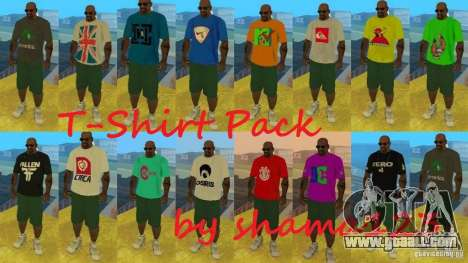 T-Shirt Pack by shama123 for GTA San Andreas