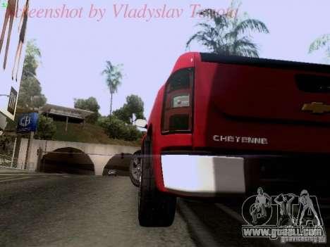 Chevrolet Cheyenne Single Cab for GTA San Andreas inner view