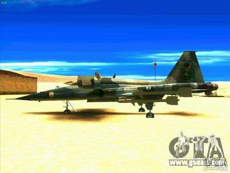 F-5E Tiger for GTA San Andreas left view