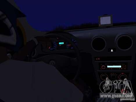 Volkswagen Gol Rallye 2012 for GTA San Andreas right view