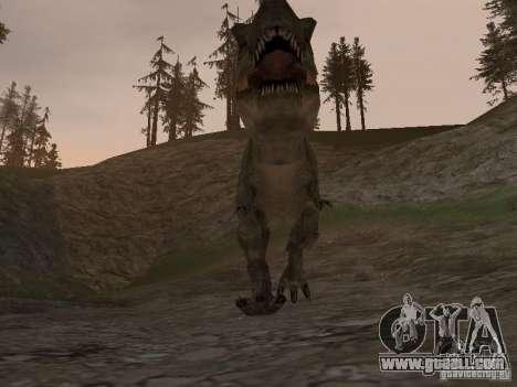 Dinosaurs Attack mod for GTA San Andreas fifth screenshot