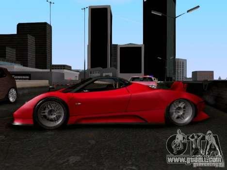 Pagani Zonda EX-R for GTA San Andreas right view