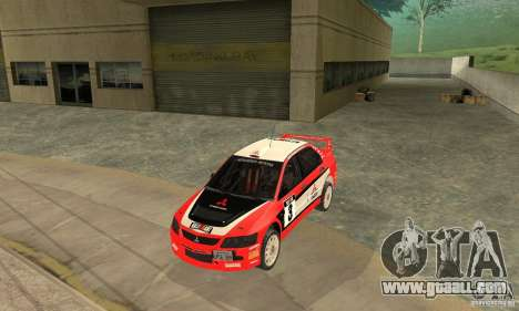 Mitsubishi Lancer Evolution IX for GTA San Andreas bottom view