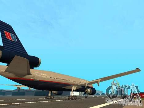 McDonell Douglas DC10 United Airlines for GTA San Andreas right view