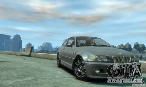 BMW M3 E46 for GTA 4 back view