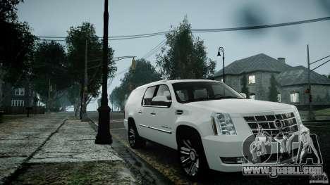 Cadillac Escalade ESV for GTA 4 back view
