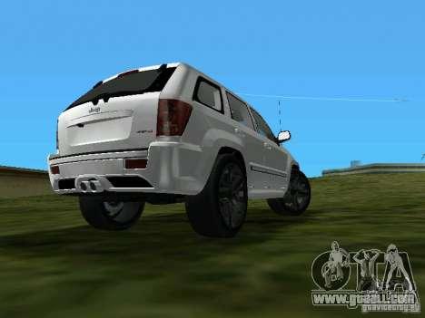 Jeep Grand Cherokee SRT8 TT Black Revel for GTA Vice City left view