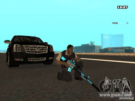Black & Blue guns for GTA San Andreas fifth screenshot