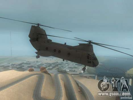 CH46 for GTA San Andreas back left view