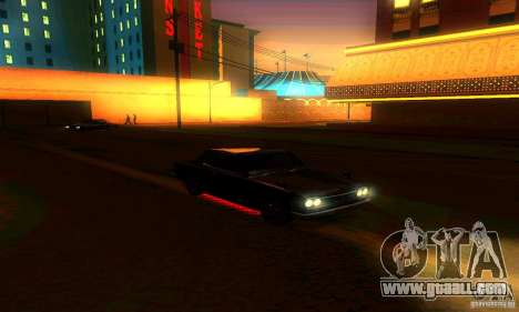 Nissan Skyline 2000-GTR for GTA San Andreas engine