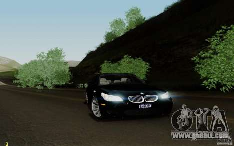 BMW M5 2009 for GTA San Andreas back left view