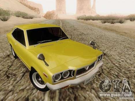 Mazda Savanna RX3 for GTA San Andreas inner view