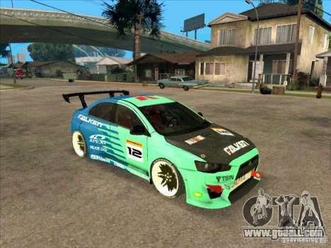 Mitsubishi Evo X Falken for GTA San Andreas left view