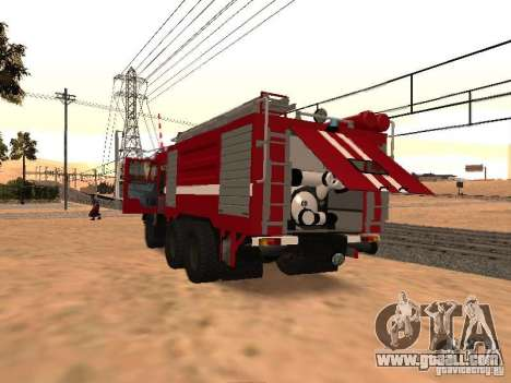 KAMAZ 53229 Firefighter for GTA San Andreas right view