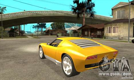 Lamborghini Miura Concept 2006 for GTA San Andreas back left view