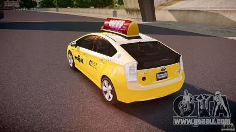 Toyota Prius NYC Taxi 2011 for GTA 4 back left view