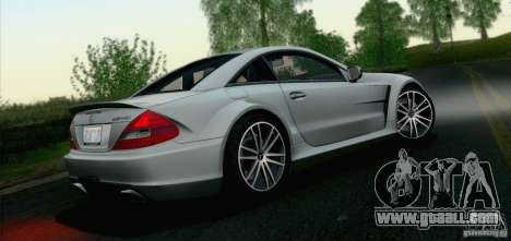 Mercedes-Benz SL65 AMG Black Series for GTA San Andreas back view