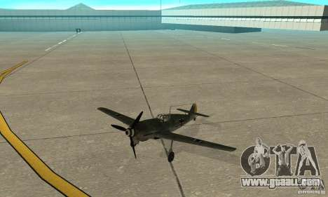 Bf-109 for GTA San Andreas left view