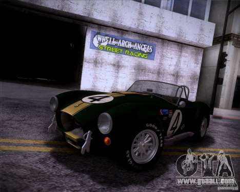 Shelby Cobra 427 Full Tunable for GTA San Andreas inner view