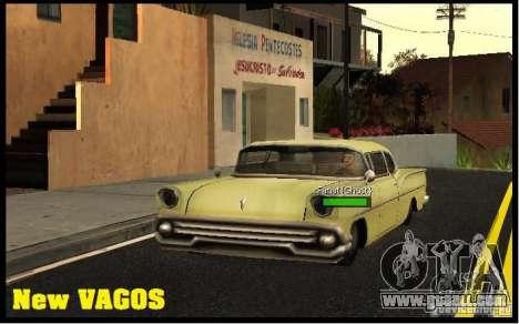 New Vagos [lsv2] for GTA San Andreas third screenshot