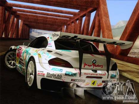 BMW Z4 E89 GT3 2010 Final for GTA San Andreas upper view