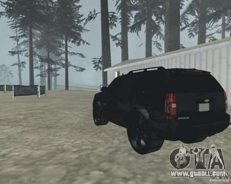 Chevrolet Tahoe BLACK EDITION for GTA San Andreas back left view