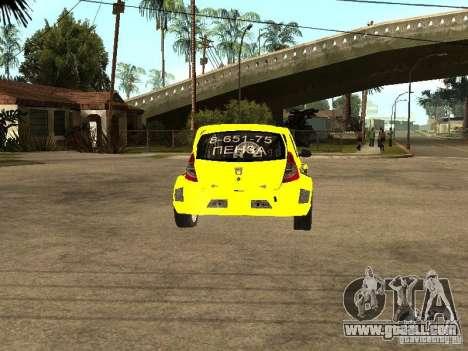 Dacia Sandero Speed Taxi for GTA San Andreas back left view