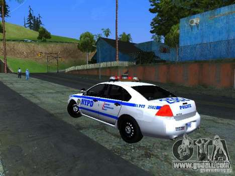 Chevrolet Impala NYPD for GTA San Andreas right view