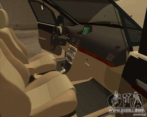 Toyota Innova for GTA San Andreas interior