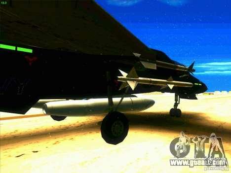 F-14 Tomcat Razgriz for GTA San Andreas back view