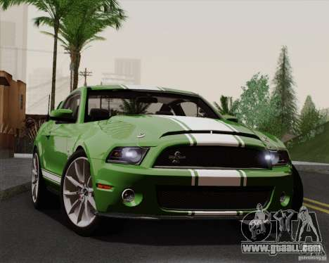 Ford Shelby GT500 Super Snake 2011 for GTA San Andreas back view