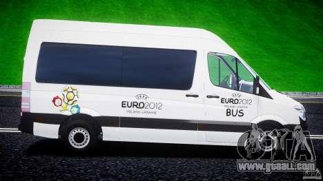Mercedes-Benz Sprinter Euro 2012 for GTA 4 left view