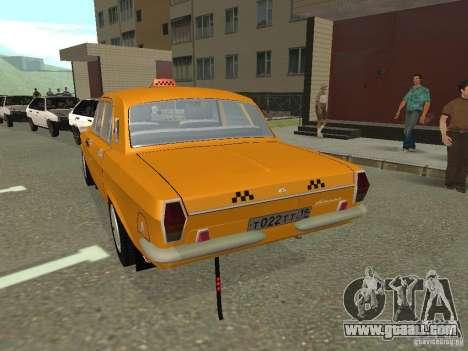 GAZ 24-10 Volga Taxi for GTA San Andreas left view