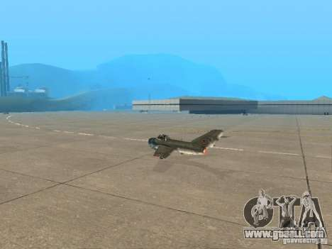 MiG 15 with weapons for GTA San Andreas left view