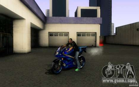 Suzuki GSXR 750 Limited v1.0 for GTA San Andreas back left view
