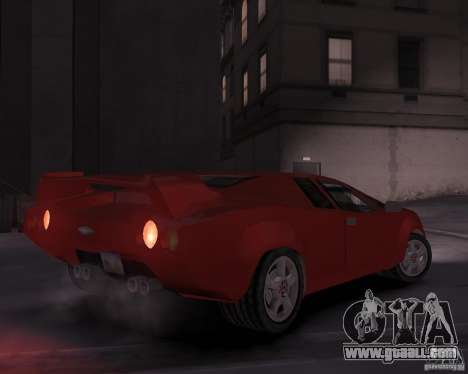 Infernus - Vice City for GTA 4 right view