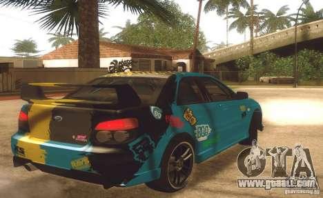Subaru Impreza WRX STI Futou Battle for GTA San Andreas back left view