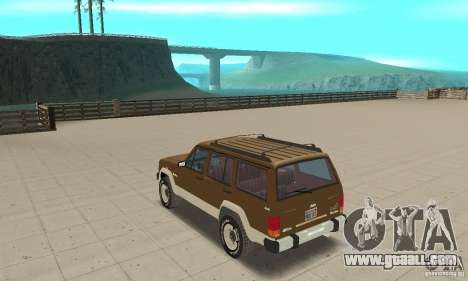 Jeep Grand Cherokee 1986 for GTA San Andreas back left view