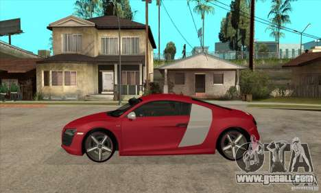 Audi R8 V10 for GTA San Andreas left view