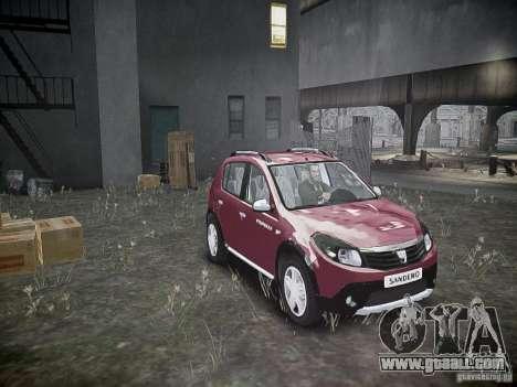 Dacia Sandero Stepway for GTA 4 side view