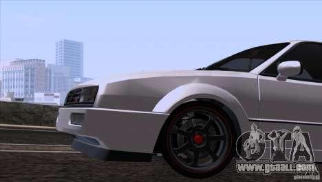Volkswagen Corrado VR6 for GTA San Andreas inner view