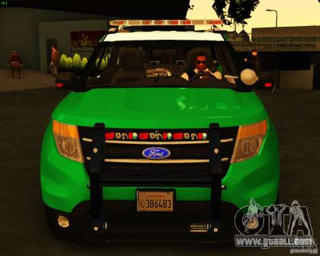 Ford Explorer 2011 VCPD Police for GTA San Andreas right view