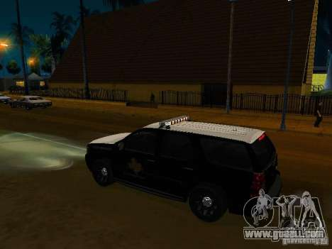 Chevrolet Tahoe Texas Highway Patrol for GTA San Andreas right view