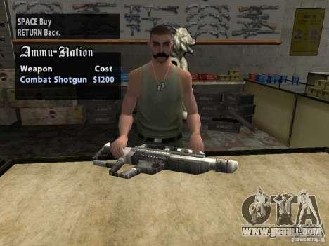 Pancor Jackhammer for GTA San Andreas forth screenshot