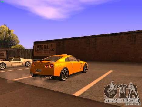 Nissan GT-R SpecV Black Revel for GTA San Andreas back left view