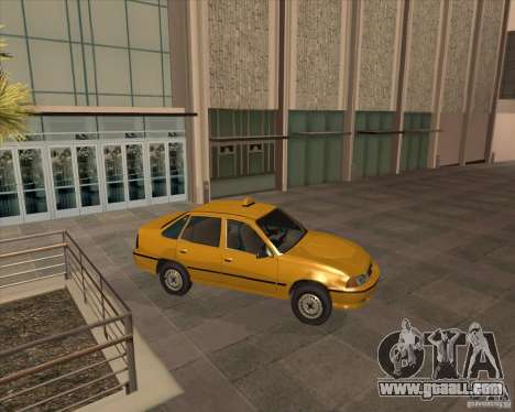 Daewoo Nexia Taxi for GTA San Andreas back left view