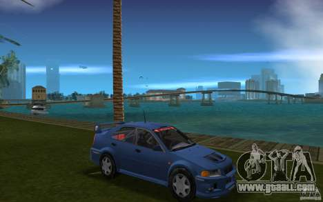 Mitsubishi Lancer Evo VI for GTA Vice City back view