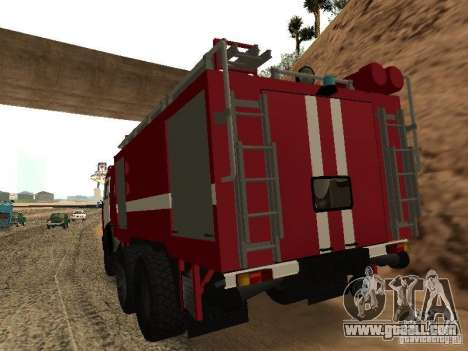 KAMAZ 53229 Firefighter for GTA San Andreas left view