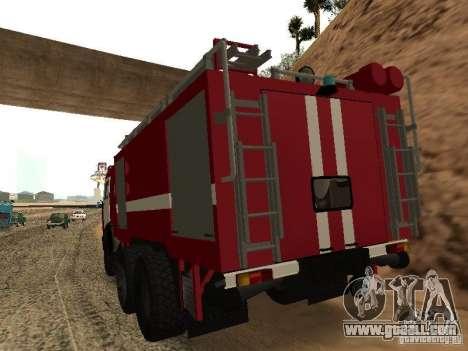 KAMAZ 53229 Firefighter for GTA San Andreas left view