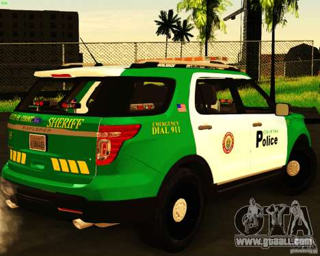 Ford Explorer 2011 VCPD Police for GTA San Andreas left view